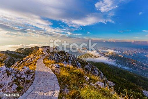 istock Lovcen Mountains National park at sunset - Montenegro 620007478