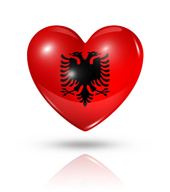 Royalty Free Albania Flag Pictures Images And Stock Photos IStock - Albania flag