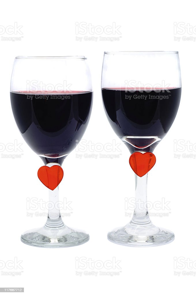 Love & Wine royalty-free stock photo