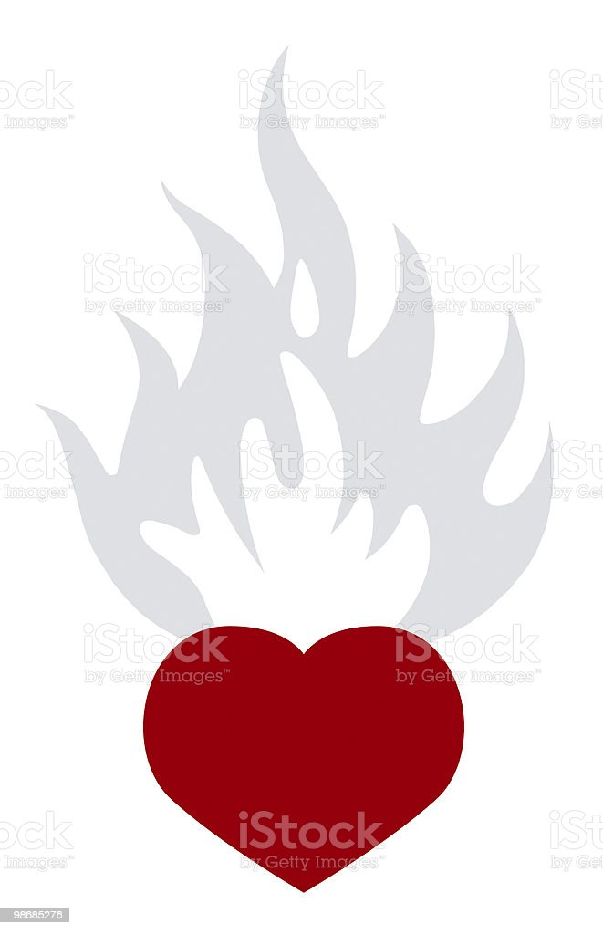 love and flames royalty-free stock photo