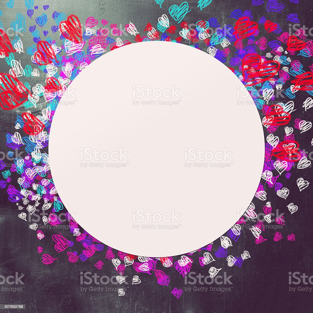 Love and hearts background stock photo