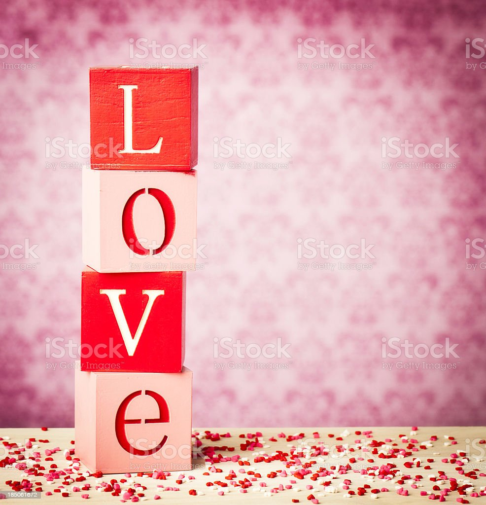 Love and Hearts stock photo