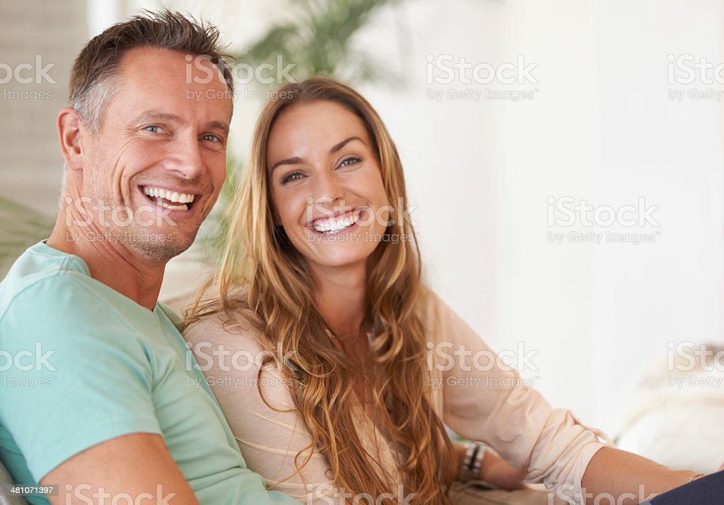 Love and laughter stock photo