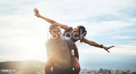 istock Love and life - embrace it with open arms 646820176