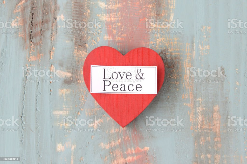 Love and peace concepts stock photo