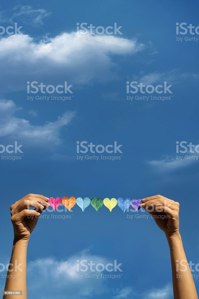 love and peace royalty-free stock photo