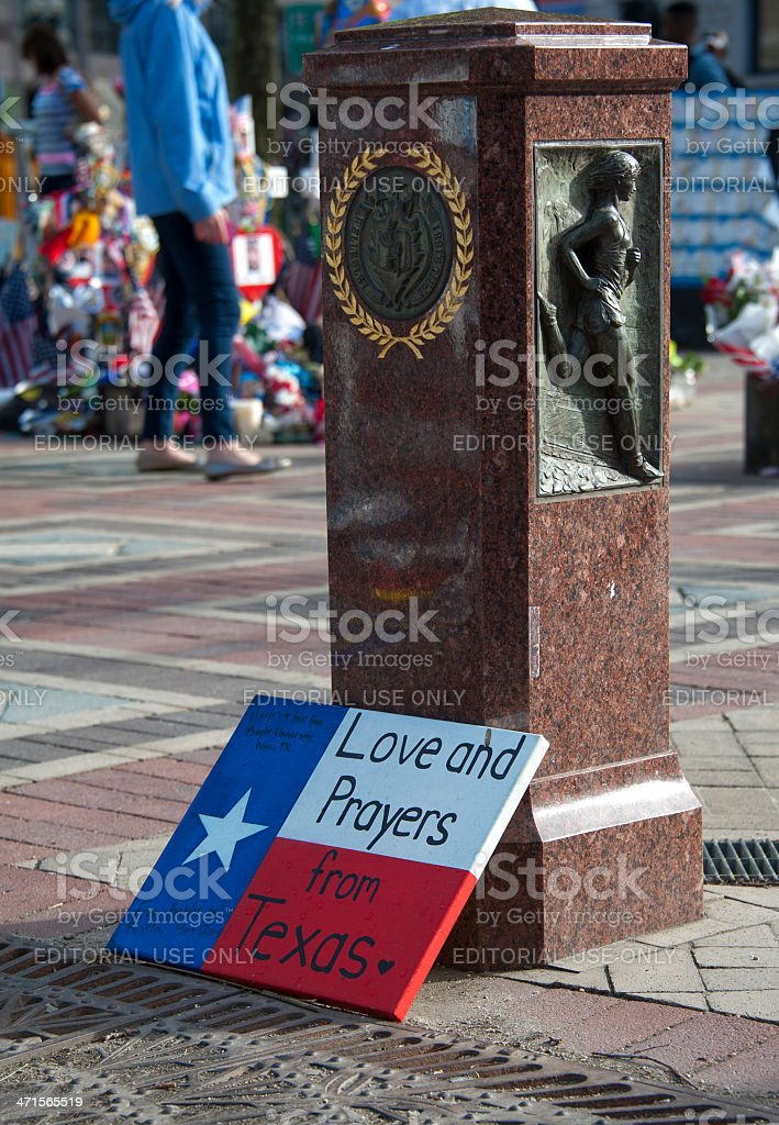 Love and Prayers from Texas stock photo