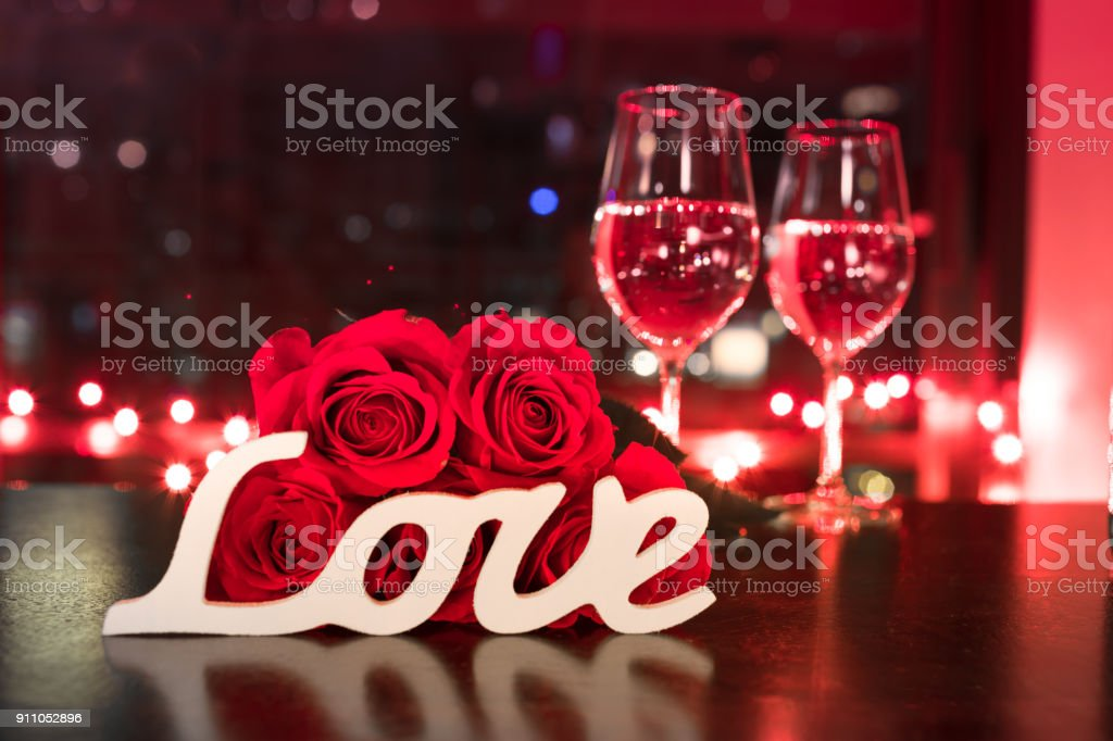 Love and romance concept. stock photo