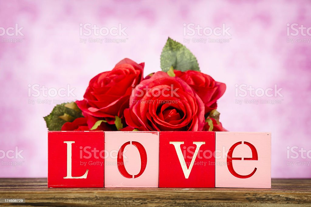 Love and Roses royalty-free stock photo