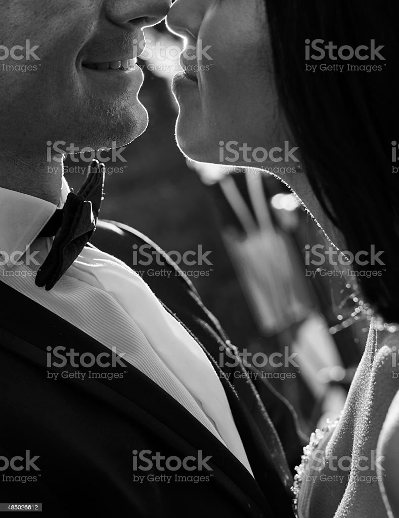 love and smile stock photo