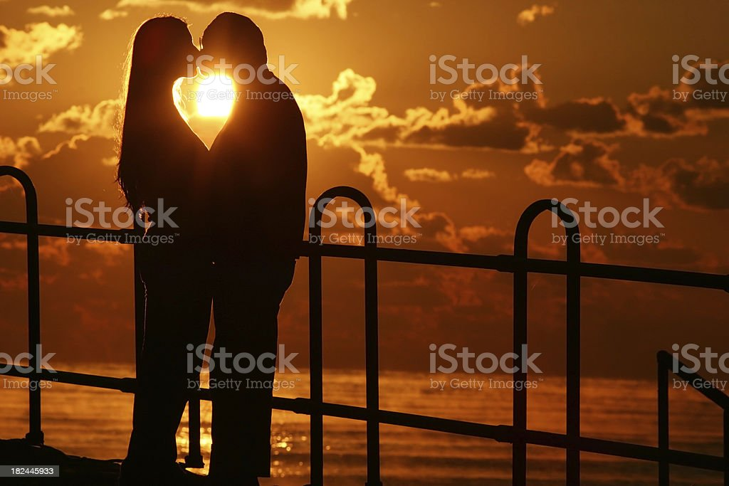 Love and sunset royalty-free stock photo