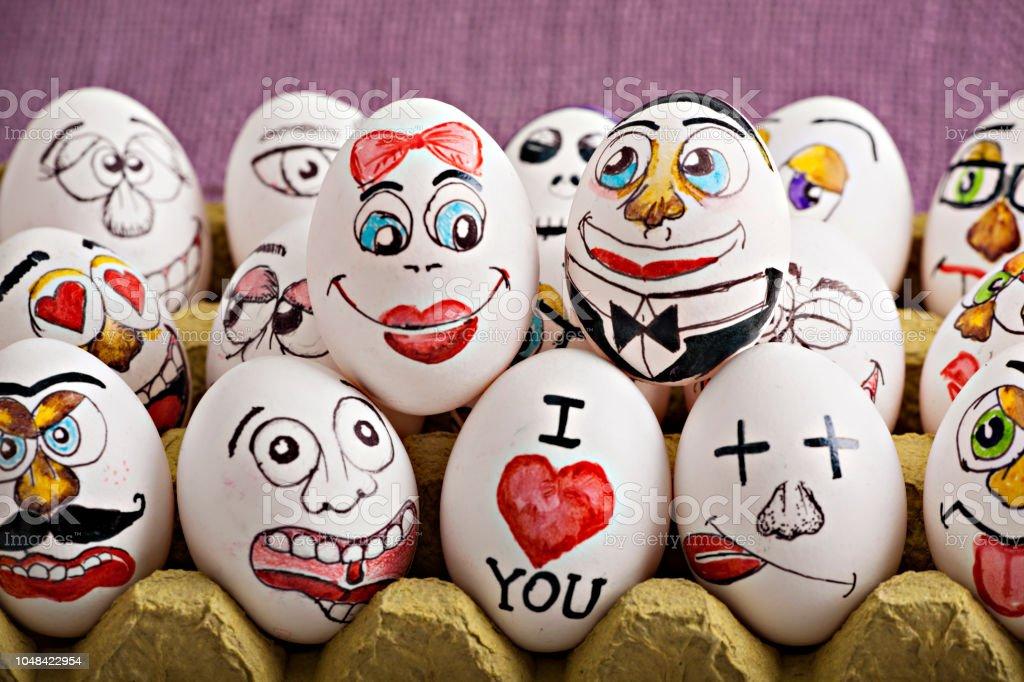 Aşk ve evlilik konsepti ile yumurta stok fotoğrafı