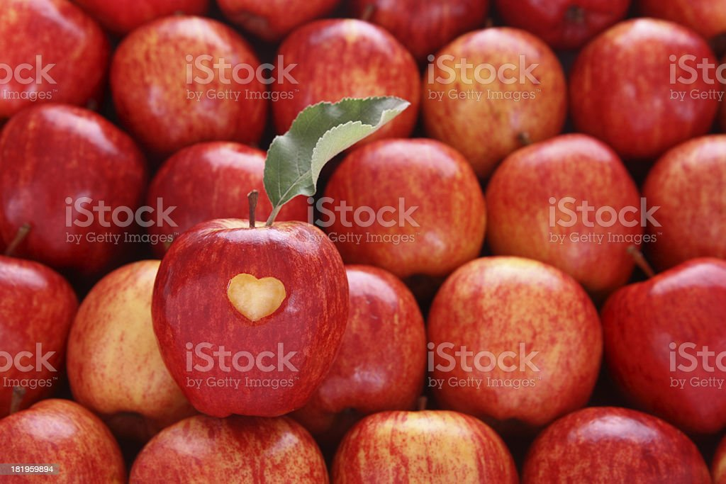 I Love Apples stock photo