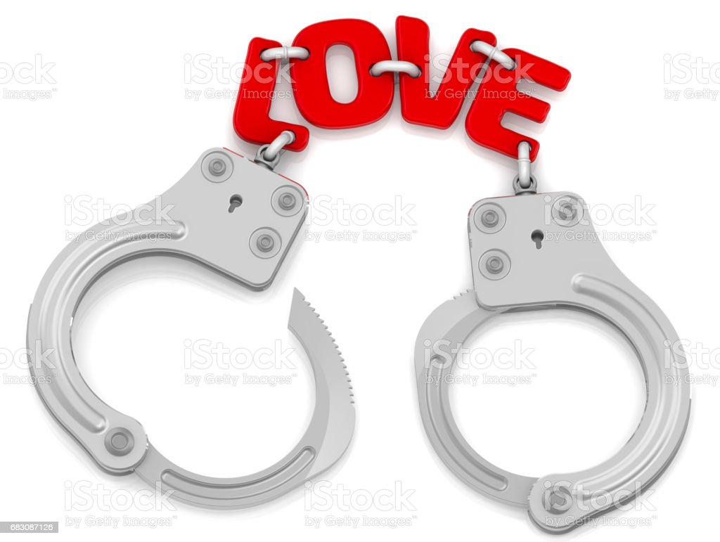 Love as limiter of freedom stock photo