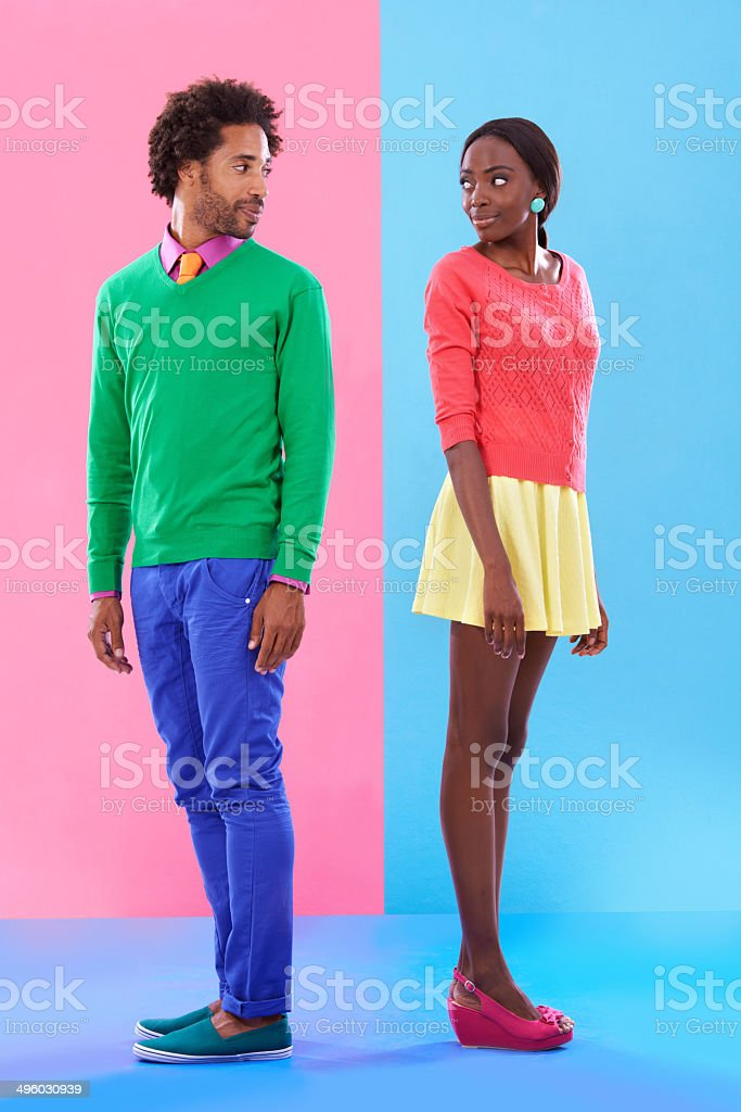 Love at first sight stock photo