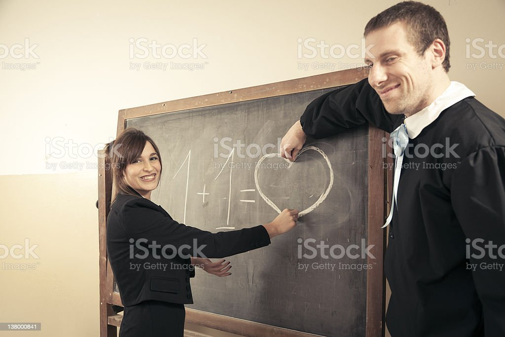 Love at School. Humor. Concept royalty-free stock photo