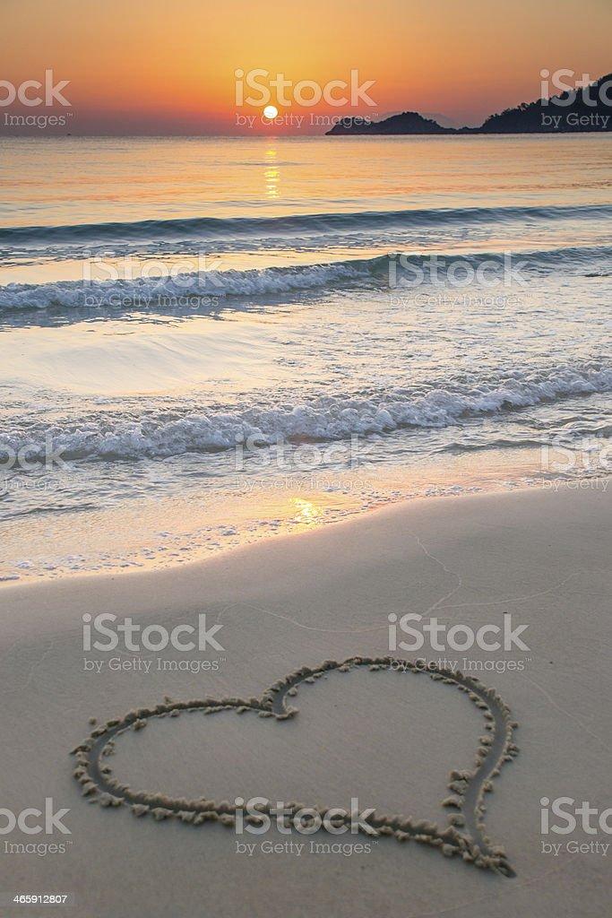 Love at sunrise stock photo