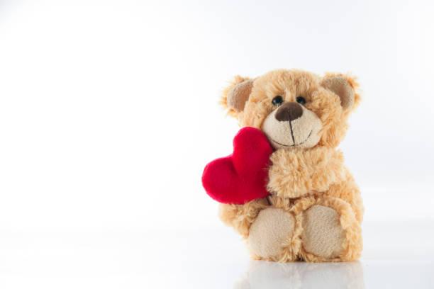 love background - teddy bear imagens e fotografias de stock