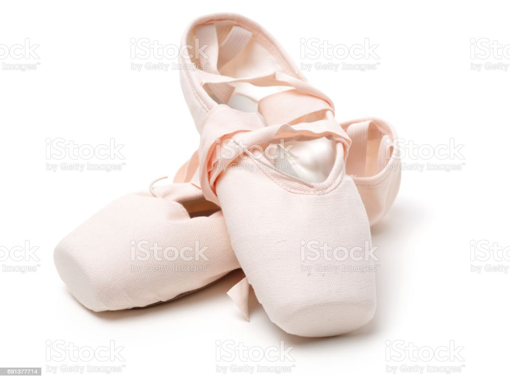Love ballet  shoes isolated on the white background stock photo