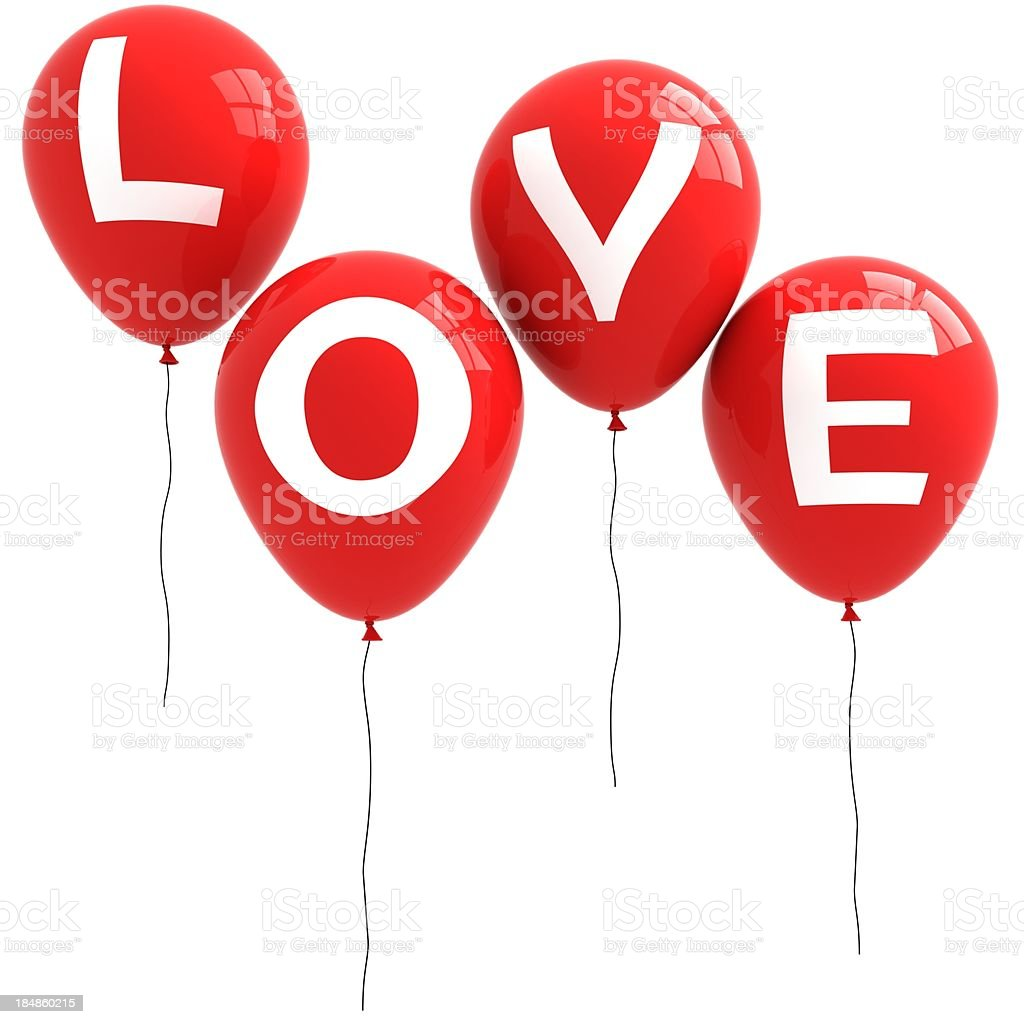 Love Balloons royalty-free stock photo