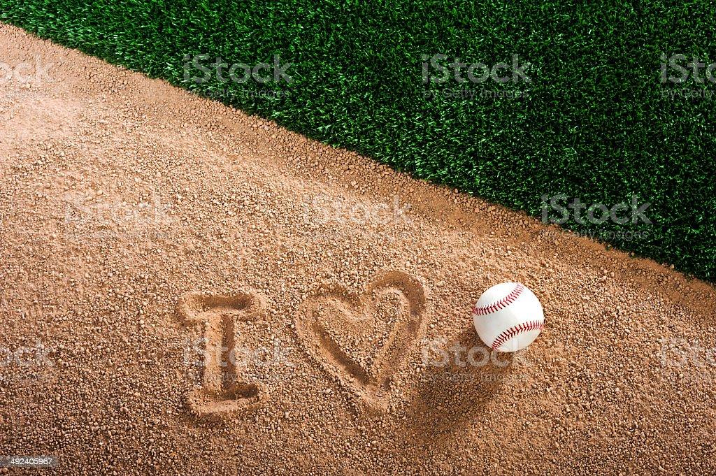 I Love Baseball stock photo