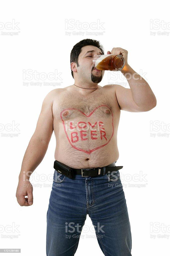 I love beer!!! royalty-free stock photo