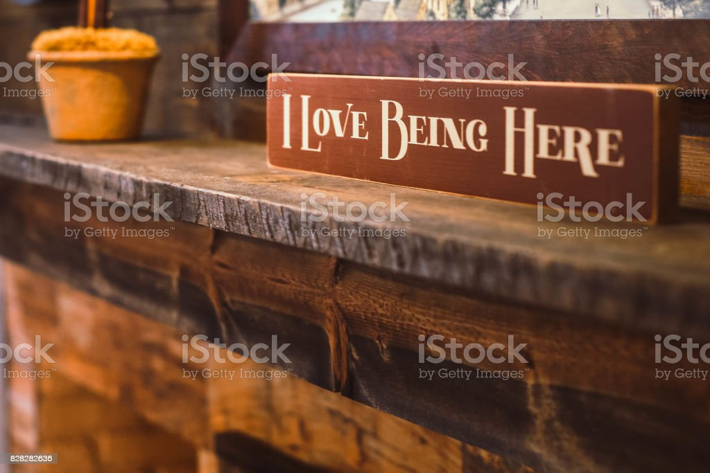 I Love Being Here Sign stock photo