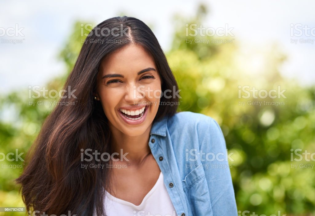 I love being outside royalty-free stock photo