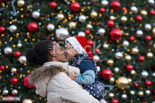 istock Love between mother and daughter forever. Christmas holiday. 854359156
