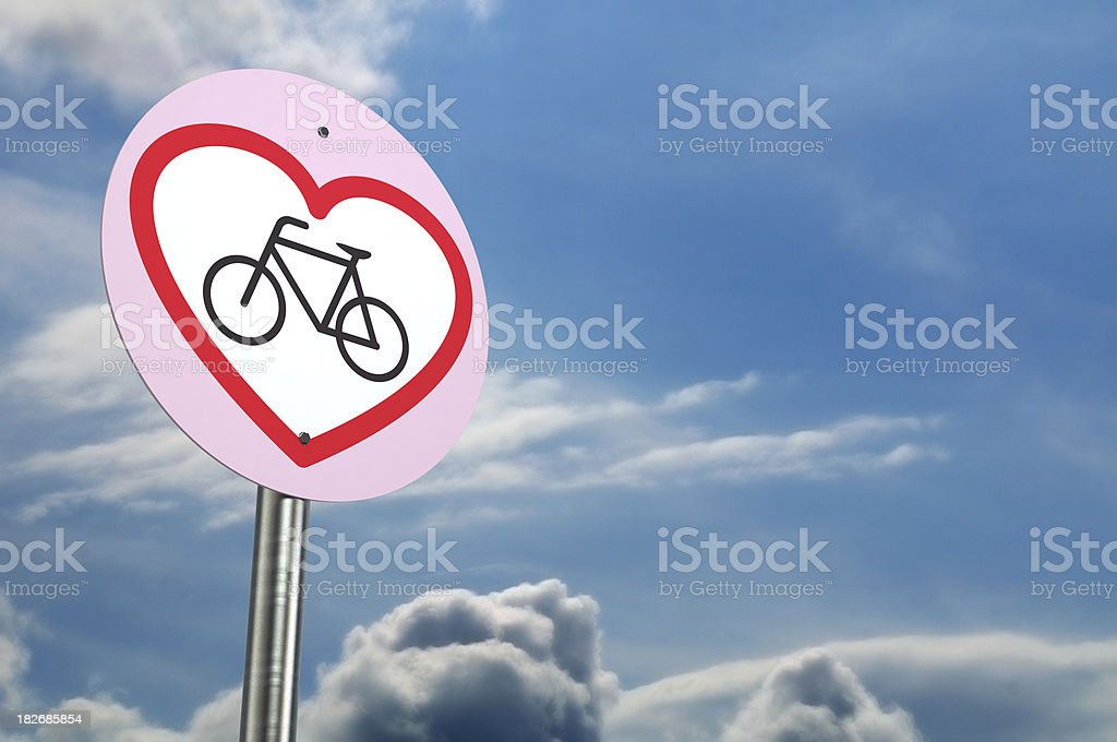 Love Bicycle royalty-free stock photo