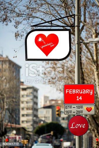 507397624 istock photo Love billboards for Valentine´s day 506341712