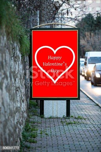507397624 istock photo Love billboards for Valentine´s day 506341772