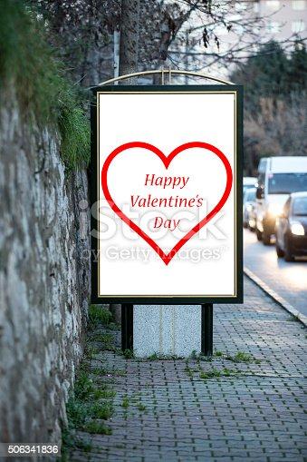 507397624 istock photo Love billboards for Valentine´s day 506341836