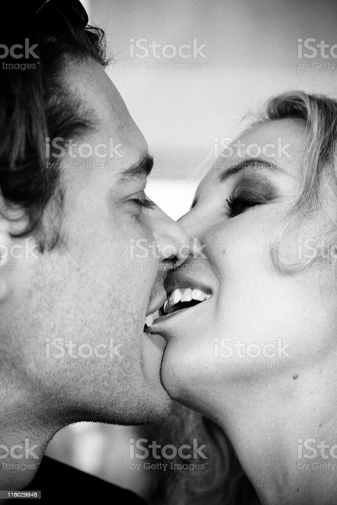 Lip biting when kissing
