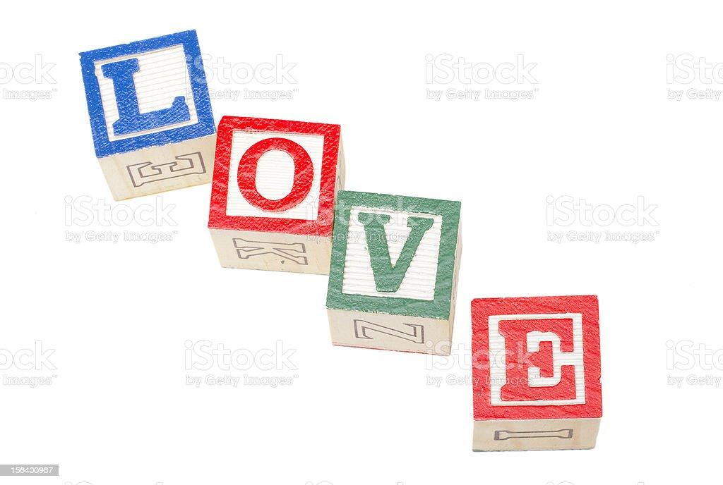Love Blocks Isolated on White royalty-free stock photo
