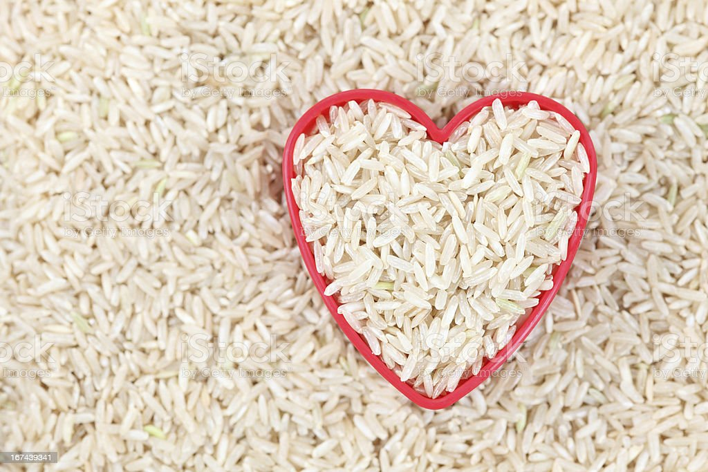 I love brown rice royalty-free stock photo