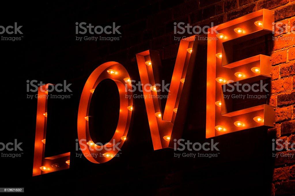 love bulb sign stock photo