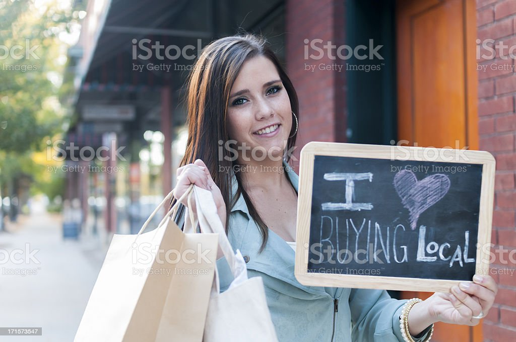 I Love Buying Local royalty-free stock photo