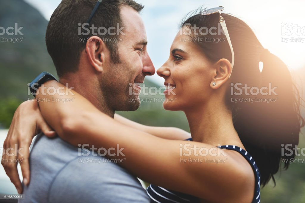 Love can be a simple smile stock photo