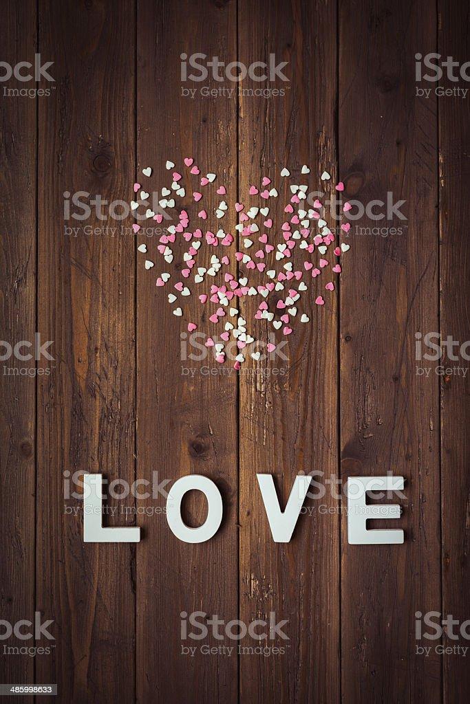 Liebe Süßigkeiten Herzen Hintergrund – Foto