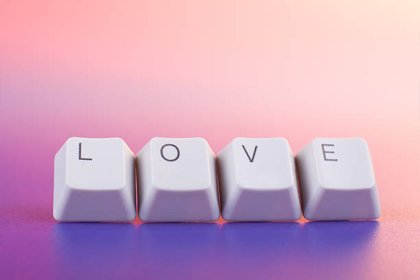 Love caption stock photo