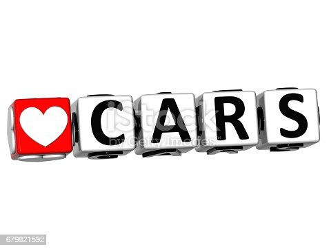1087080996 istock photo 3D Love Cars Button Click Here Block Text 679821592