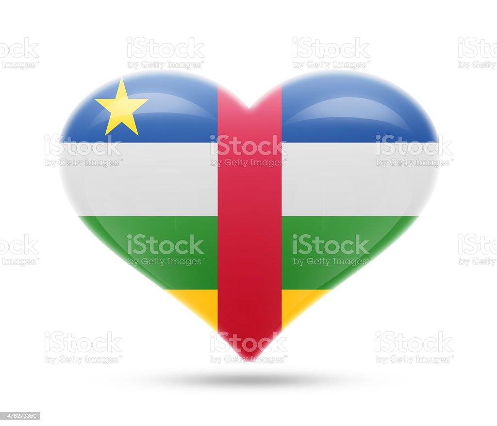 Love Central African Republic, Bangui stock photo