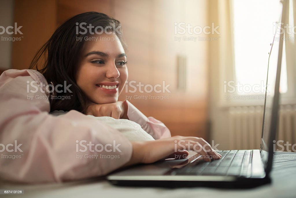 Love chat all day long stock photo