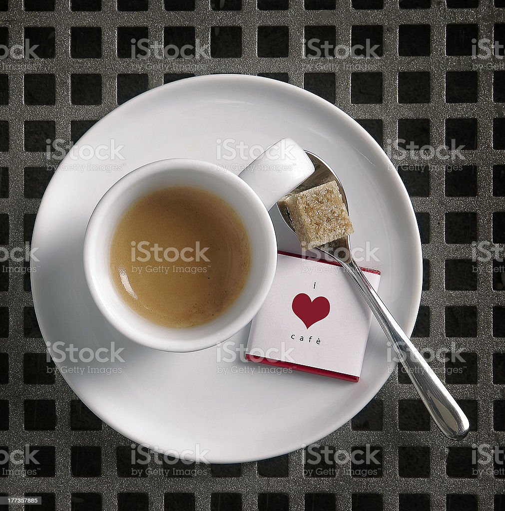 I Love Cofee stock photo