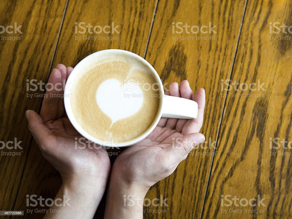love coffe in hands royalty-free stock photo