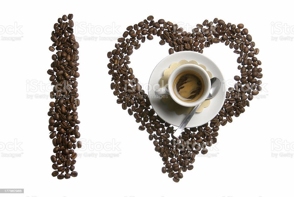 I love coffe royalty-free stock photo
