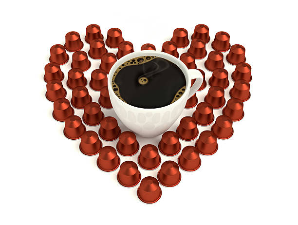 love coffee capsules stock photo
