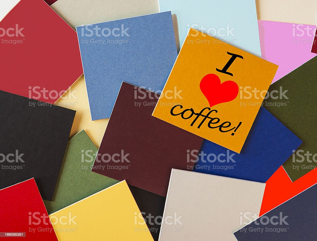 I love coffee - sign. royalty-free stock photo