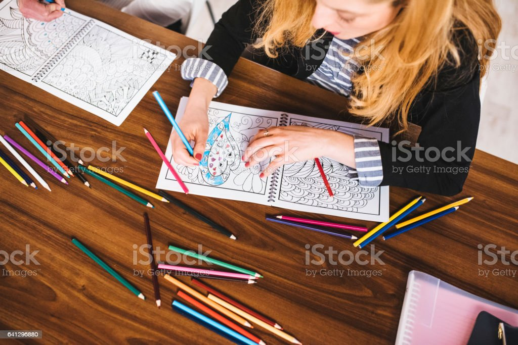 I love colouring during breaks stock photo